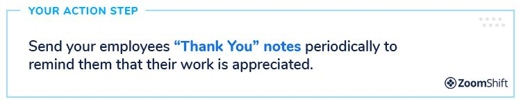 Employee Appreciation Day Ideas - Thank You Notes