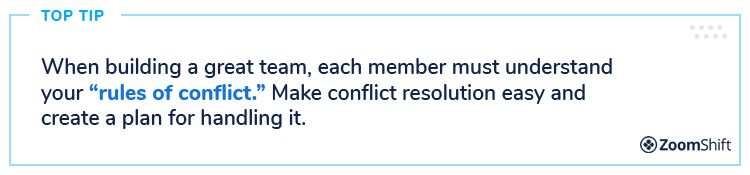 Key Elements To Building A Great Team - #7 Conflict Management