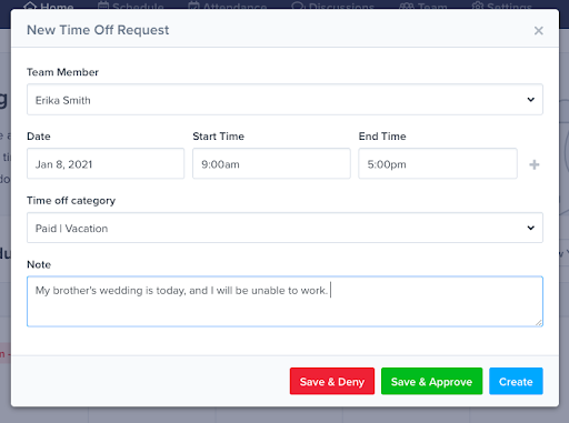 pto time tracking with ZoomShift
