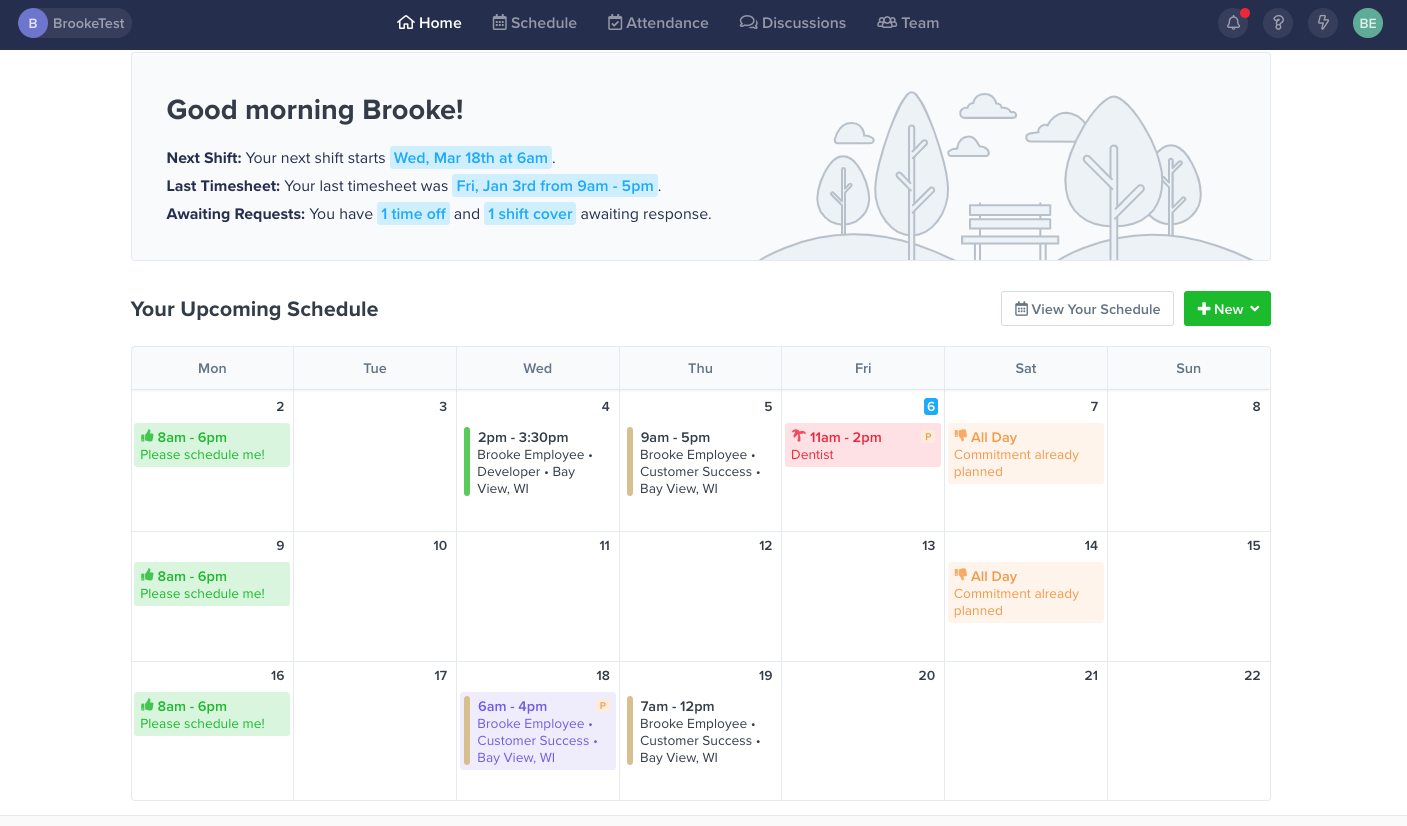 ZoomShift Scheduling Software