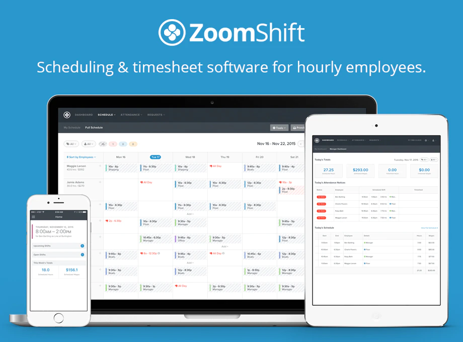 Time and Attendance Software - ZoomShift